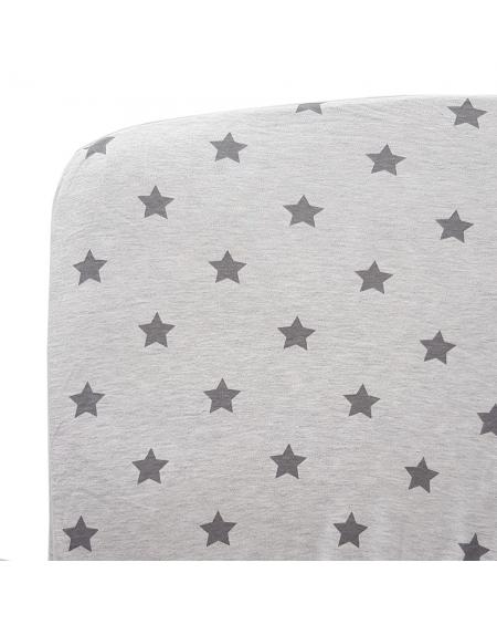 sabana bajera cuna grande estrellas gris