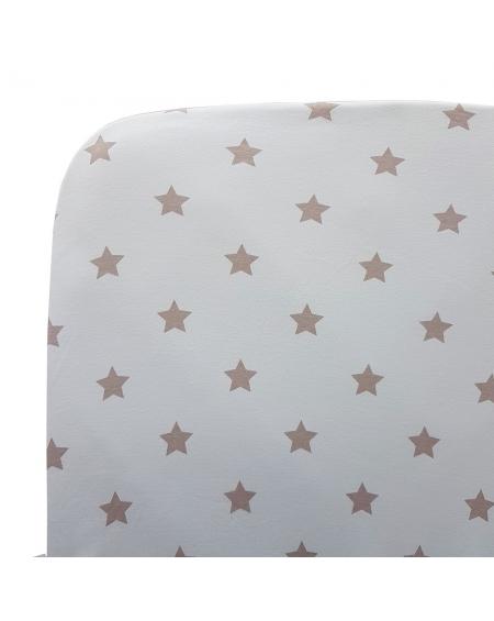 sabana bajera cuna grande celeste estrellas