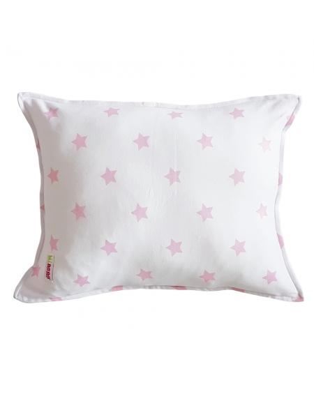 Cojín estrellas rosadas