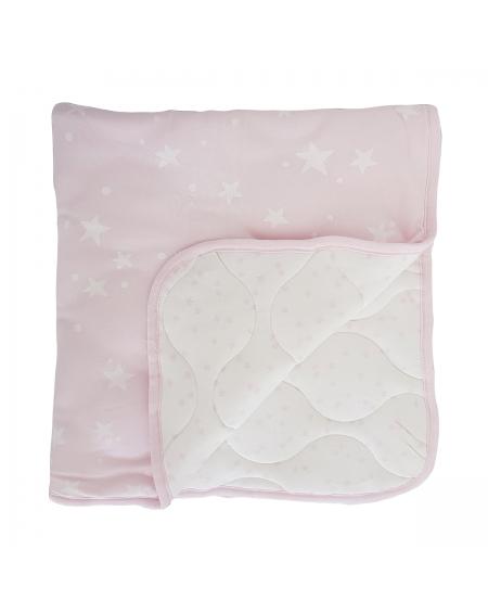 Colcha/ cobertor colecho rosado galaxy