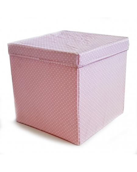 Caja cuadrada rosado puntos