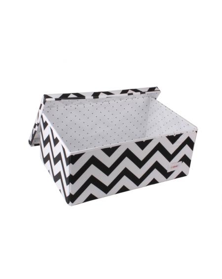 Caja grande zigzag blanco y negro