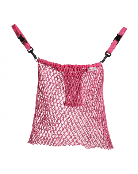 Bolsa malla para coche rosada