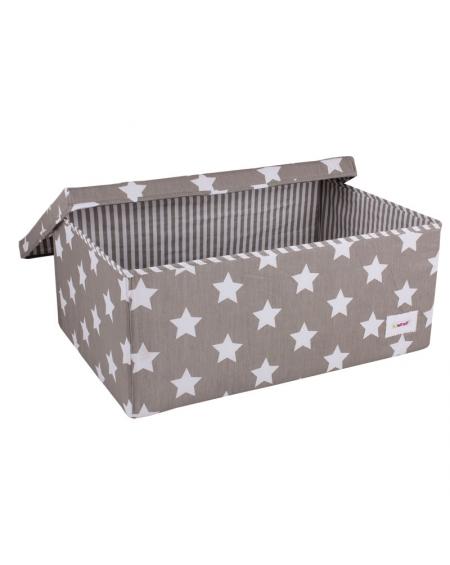 Caja grande estrellas gris