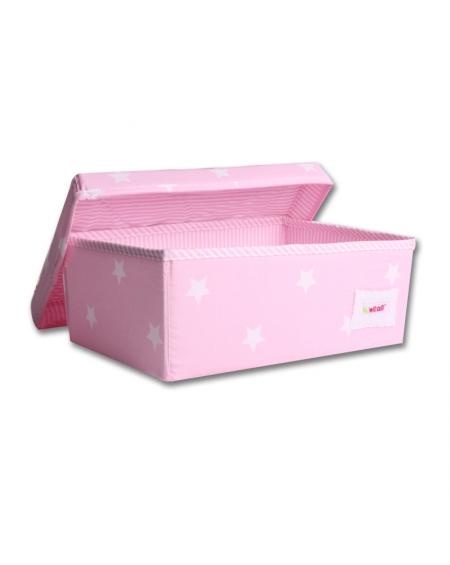 Caja grande rosada estrellas