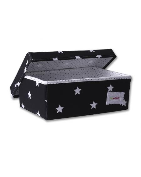 Caja chica  negra estrellas