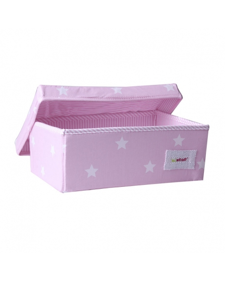 Caja chica  rosado estrellas