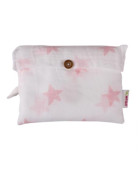 Manta de apego estrellas rosadas