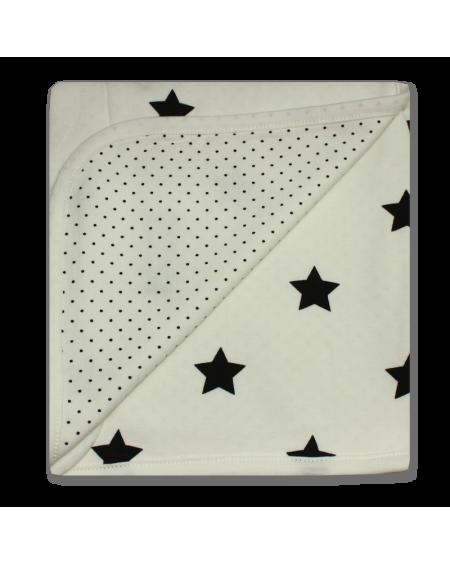 Manta reversible  estrellas/puntos negro
