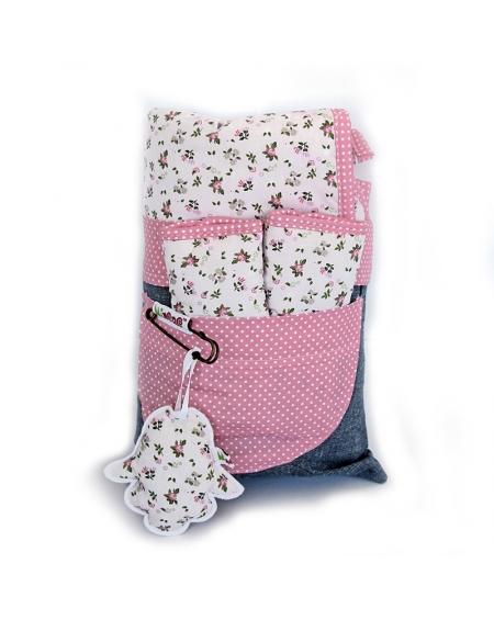 Pack cubrecoche rosado floral