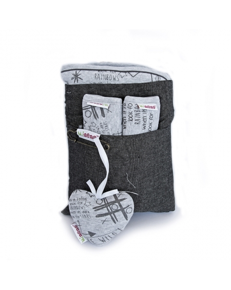 Pack cubrecoche gris grafiti