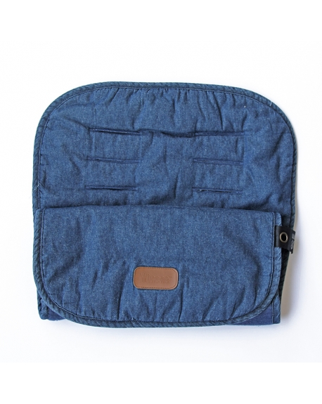 Cubrecoche jeans azul