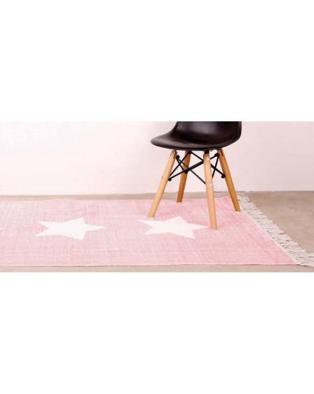 Alfombra rosado estrella
