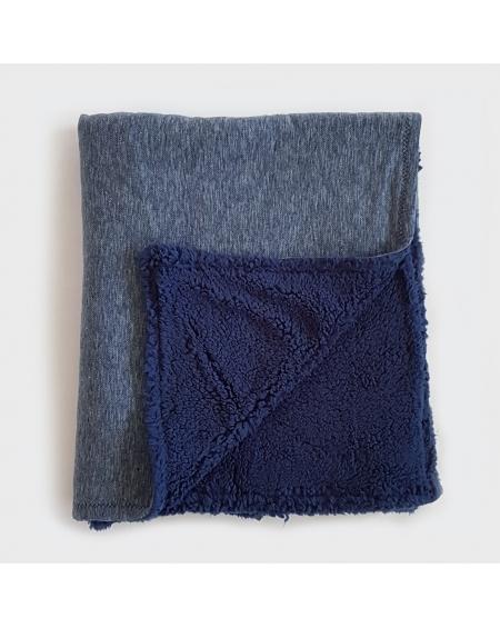 Manta chiporro azul